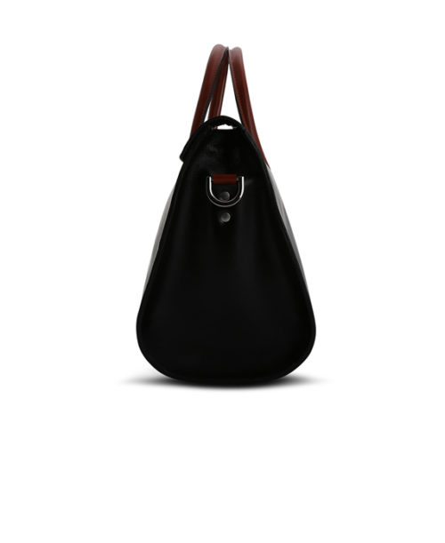 Darius Duffle Bag Side View- Fine Lines