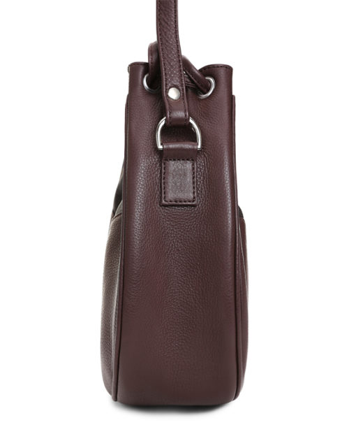 Sharon Satchel Bag Side View: Fine Lines