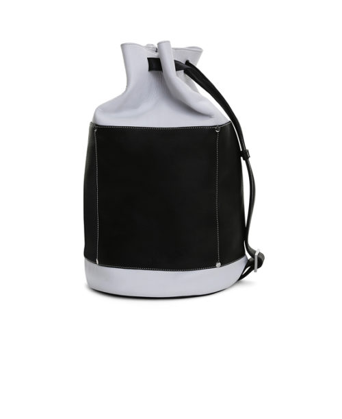 Rogelio Rucksack Bag Side View: Fine Lines