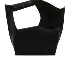 Elisa Shopping Bag Back View- Fine Lines
