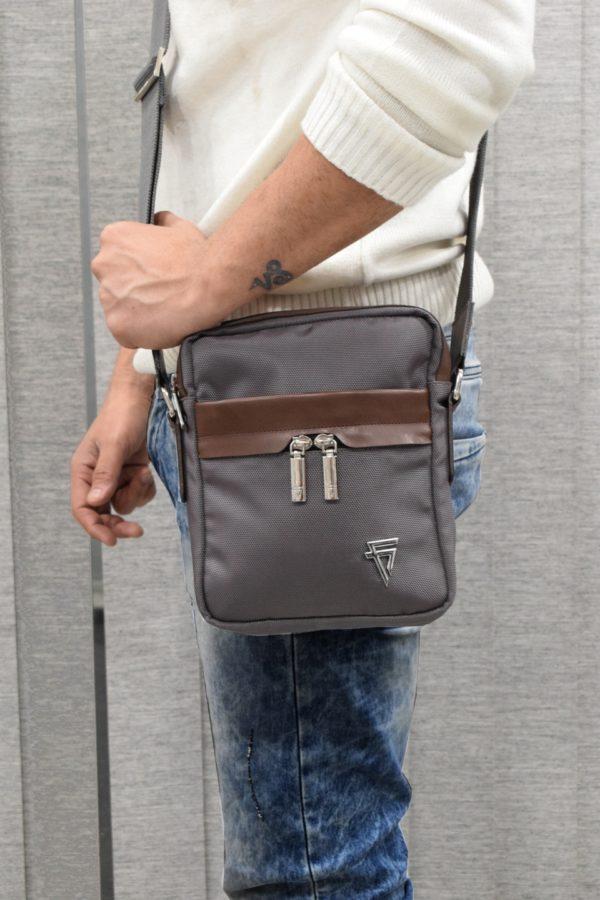fine lines alberto crossbody bag grey
