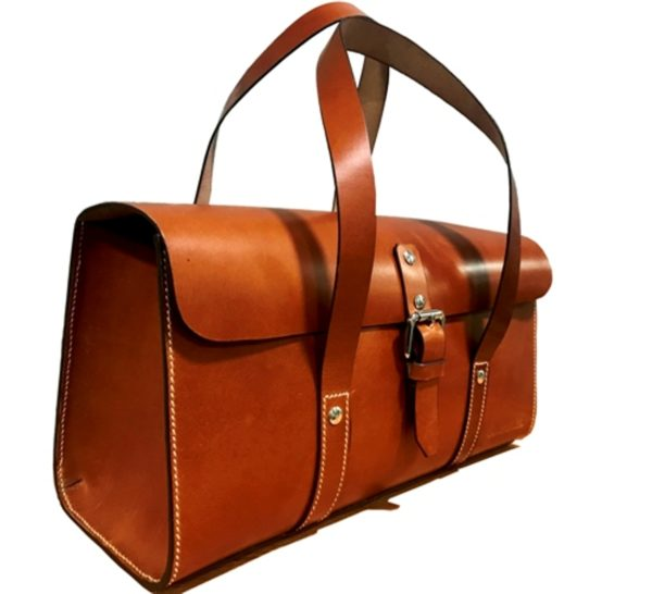 Hailey Leather Handbag Side View