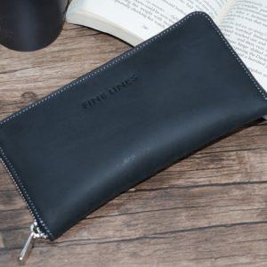 Adair leather clutch