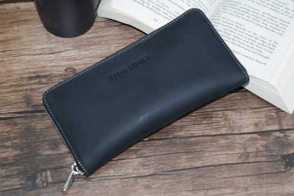 Adair leather clutch