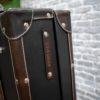 Lorenzo Leather trunk Closeup