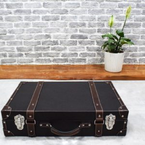 lorenzo leather trunk front